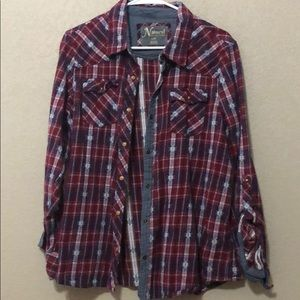 Flannel with button snaps